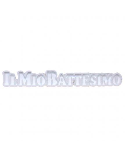 Struttura Porta Confetti in Polistirolo Scritta Il Mio Battesimo