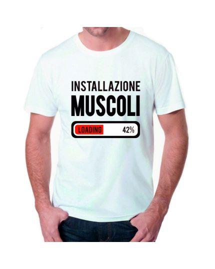 T-Shirt Uomo Installazione Muscoli
