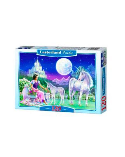 Puzzle Principessa con Unicorni 120 Pezzi 32x23 Cm