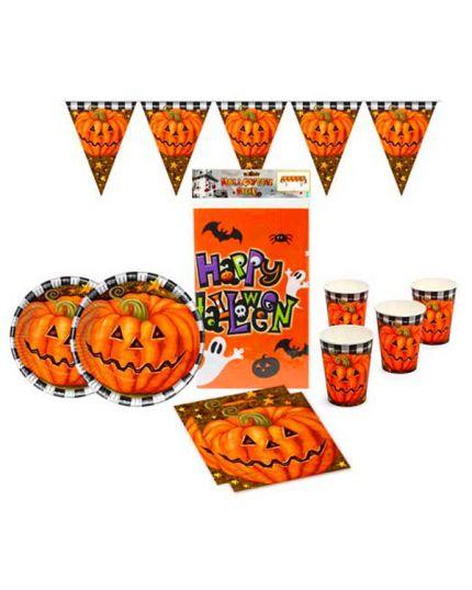 Kit Coordinato Tavola Halloween per 24 Persone