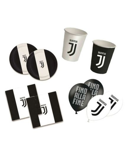 Kit Coordinato Tavola Juventus 16 Persone