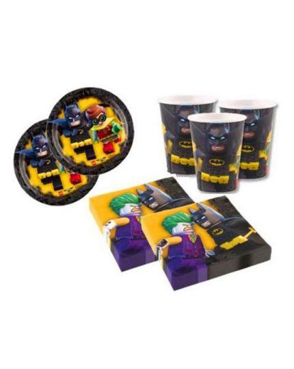 Kit Coordinato tavola Lego - Batman per 16 Persone