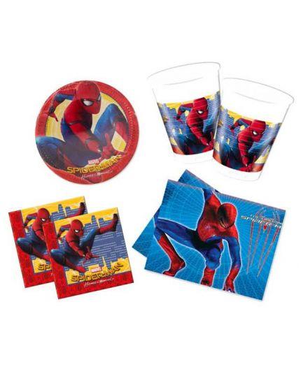 Kit Coordinato Tavola Spiderman per 16 Persone