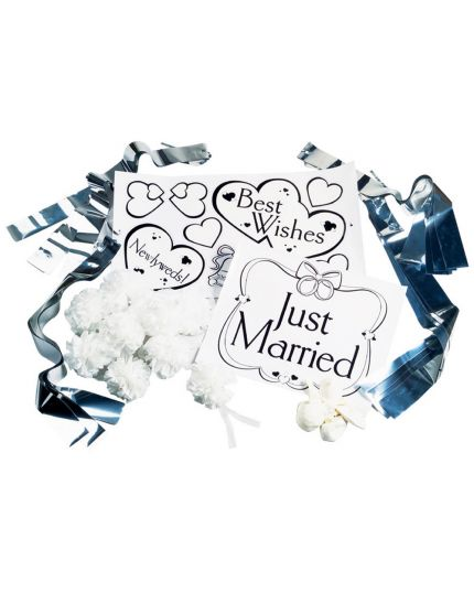 Kit Decorazione per Auto Matrimonio Just Married Wilton