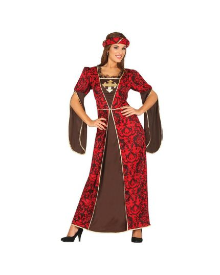 Costume Lady Isabel Cortigiana Medievale Donna