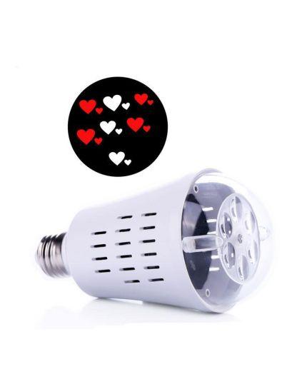 Lampadina LED E27 per Proiettore con Cuori