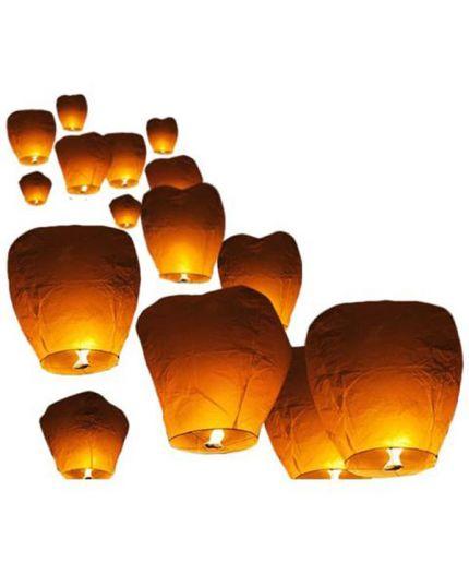 Lanterne Cinesi Volanti Bianche