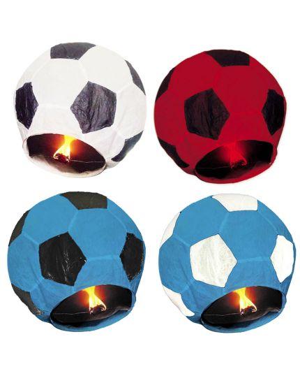 Lanterna Cinese Colorata Forma Pallone da Calcio Biodegradabile e Ignifuga 80x40cm