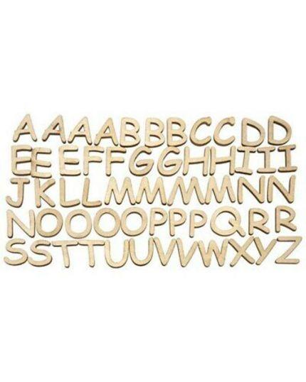 Lettere Alfabeto in Legno 2,5cm 56pz