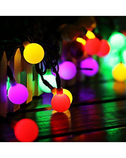 Filo Trasparente 20 Lampade Sfera Magic Balls Multicolor 7,6 Metri