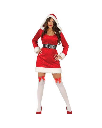 Costume Mamma Natale con Cappuccio Donna