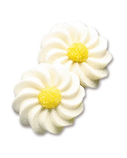Decorazione Margherita Bianca in Zucchero 3cm