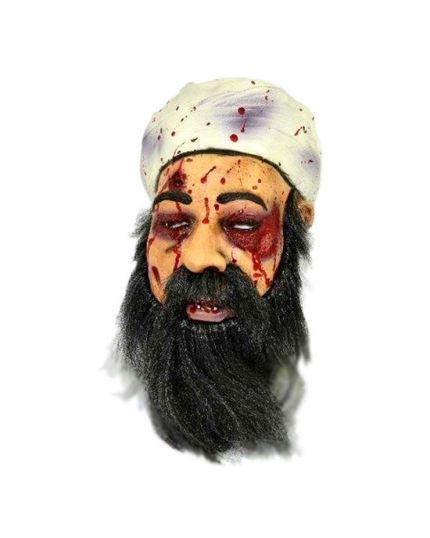 Maschera Lattice Osama Bin Laden Insanguinata con Capelli