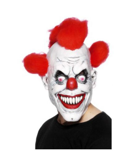 Maschera Lattice Clown Horror con Capelli Rossi