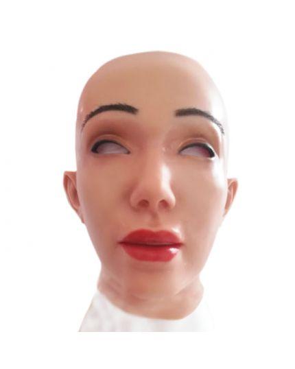 Maschera Donna Orientale con Make-Up in Silicone Seconda Pelle Luxury