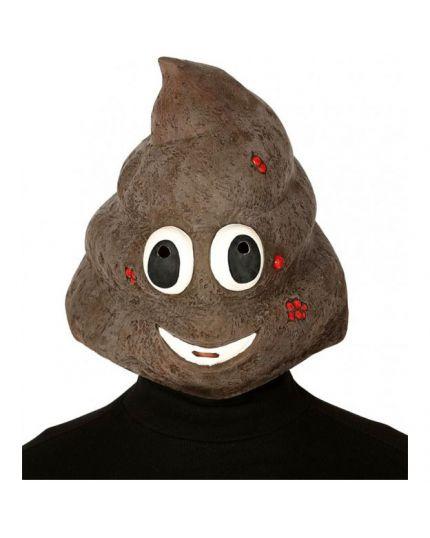 Maschera Emoji Cacca Lattice