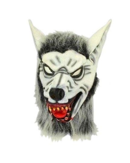 Maschera Lattice Lupo Bianco Horror