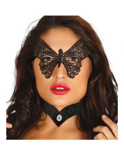 Maschera Pizzo Ricamata Farfalla