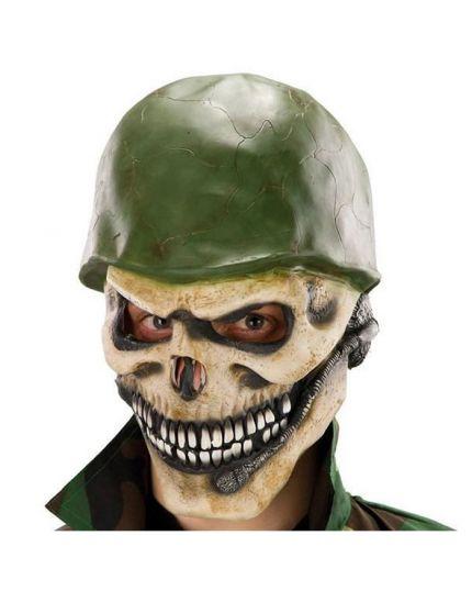 Maschera Scheletro con Elemetto Militare Lattice