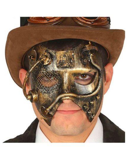 Maschera Steampunk Oro