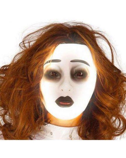 Maschera Trasparente Fluorescente Donna