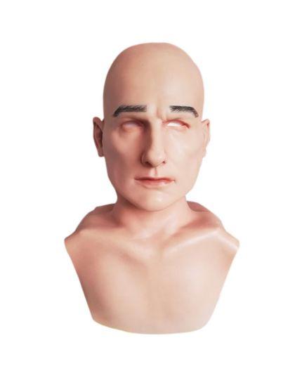 Maschera Uomo Silicone Seconda Pelle Luxury con Spalle
