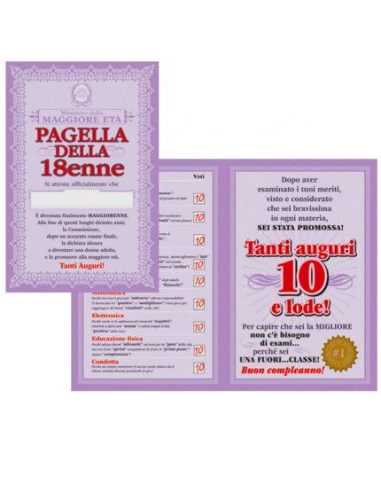 Maxi Biglietto di Auguri Compleanno 18 Anni Pagella della 18enne 59x39cm