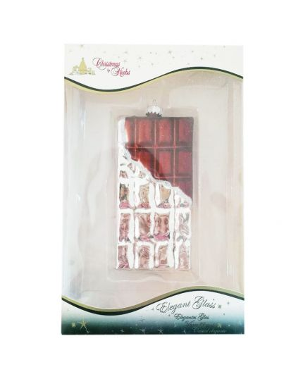 Decorazione Vetro Maxi Tavoletta Cioccolato 13cm