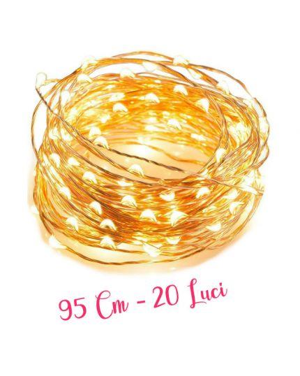 Filo Rame con Micro LED Colorati 20 Luci 95cm