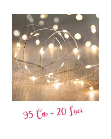Filo Argento con Micro LED Colorati 20 Luci 95cm