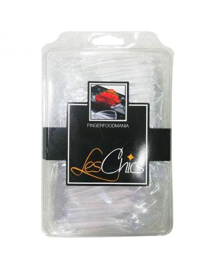 Mini Forchettine e Cucchiaini Pvc Trasparente per Finger Food 200pz