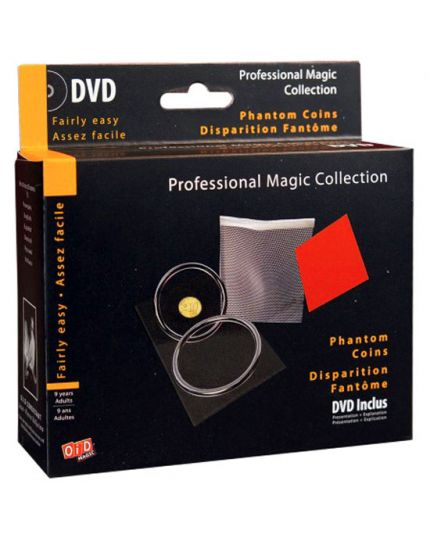 Trucco Magia Monete Fantasma Professional Magic Collection con DVD
