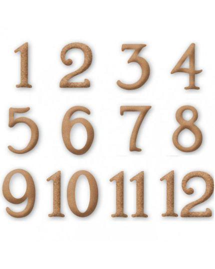 Numeri Classici in Legno Decorabilia 4,5cm da 1 a 12
