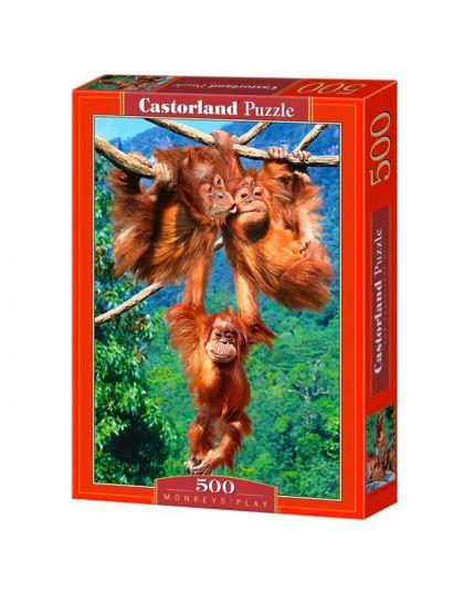 Puzzle Scimmie 500 Pezzi 47x33 Cm