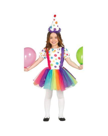 Costume Pagliaccio Arcobaleno Bambina