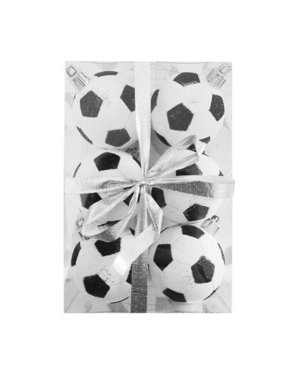 Palline Natale Palloni da Calcio Pvc Infrangibile 5cm