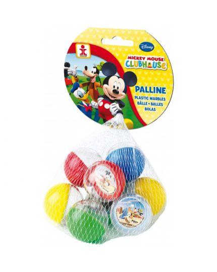 Palline Plastica Mickey Mouse 9pz