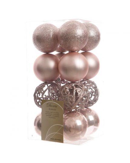 Palline Natale Pvc Infrangibile Decorate Glitter 6cm