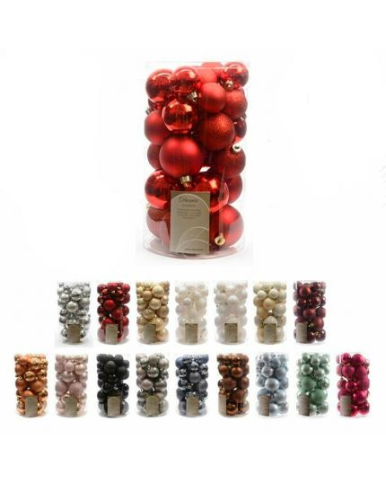 Palline Natale Colorate Pvc Infrangibile 4cm 5cm
