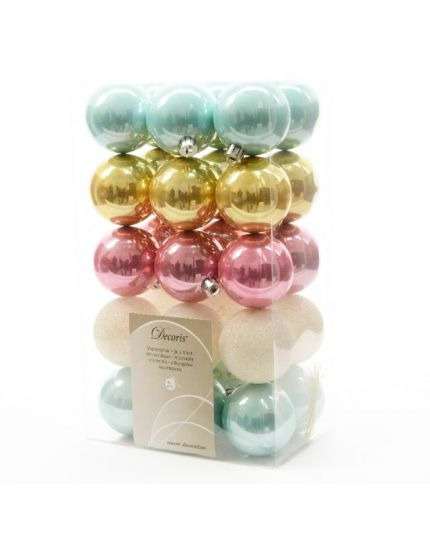 Palline Natale Pvc Infrangibile Sweet Mix 6cm