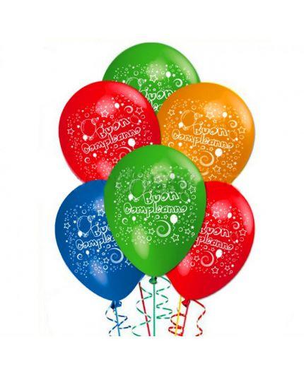 Palloncini Lattice Medi Multicolor Buon Compleanno 25pz