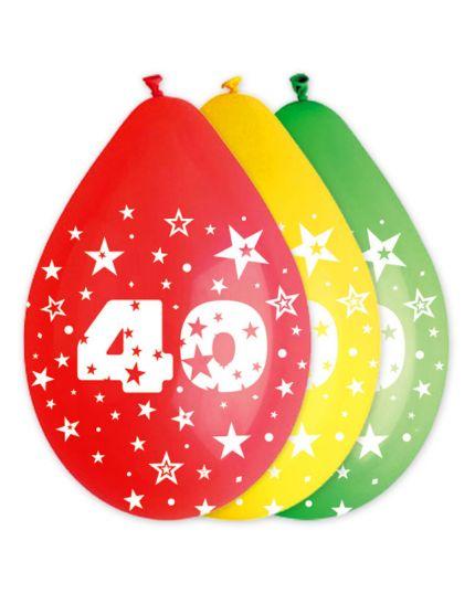 Palloncini Lattice Multicolor 40 Anni