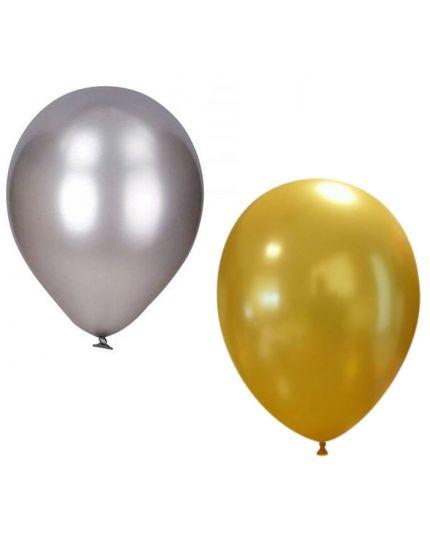 Palloncini Lattice Colorati Metallizzati Medi 100pz