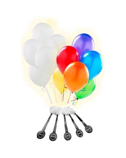 Palloncini Lattice Colorati Medi con Luci LED 25pz