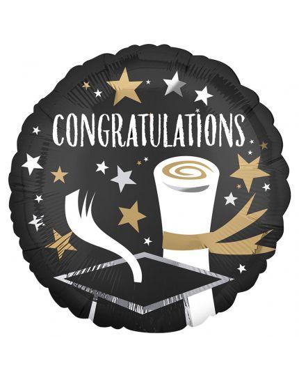 Palloncino Foil Rotondo Laurea Congratulations