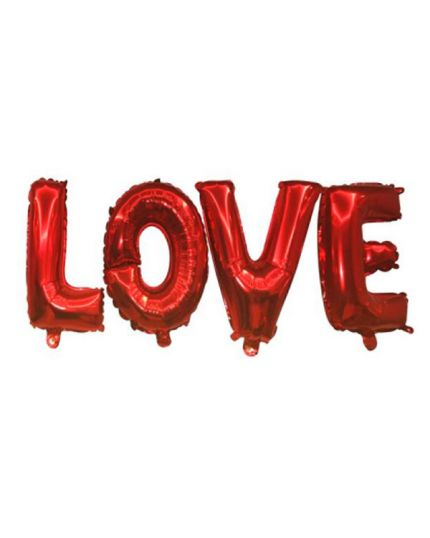 Palloncino Foil Scritta Love Rosso 40cm