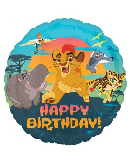 Palloncino Foil Re Leone Happy Birthday