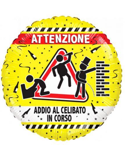 Palloncino Foil Rotondo Addio al Celibato in Corso 46cm