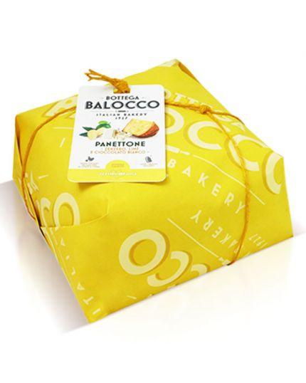 Panettone Cioccolato Bianco Zenzero e Lime Bottega Balocco 750gr