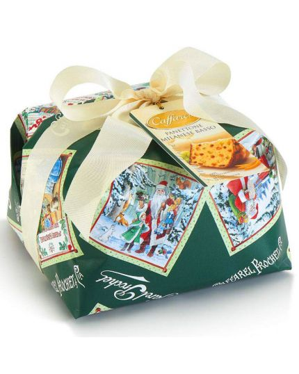 Panettone Tradizionale Milanese Basso Incartato Caffarel 1 Kg